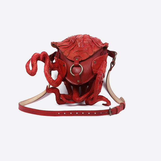 Red Cthulhu Leather Bag