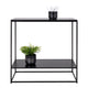 House Nordic Konsolbord Metal Træ Sort 80x80x36 cm - Decolover CPH