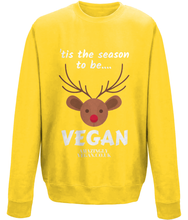 "Load image into Gallery viewer, Vegan ""tis the season"" - Sweatshirt"