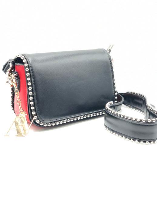 Studded Cross-Over Vegan Handbag
