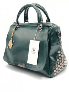 Studded Vegan Tote Handbag