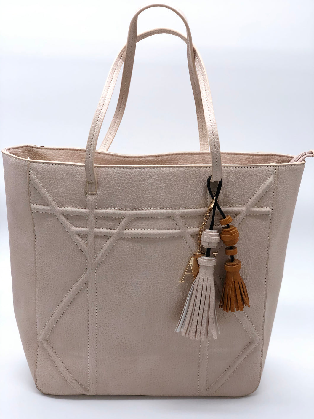 Vegan Cream Shopper Handbag