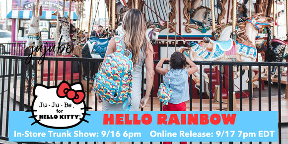 Hello Rainbow: Ju-Ju-Be x Hello Kitty Collection