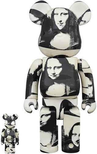 Andy Warhol 100% & 400% Mona Lisa Bearbrick Combo Set