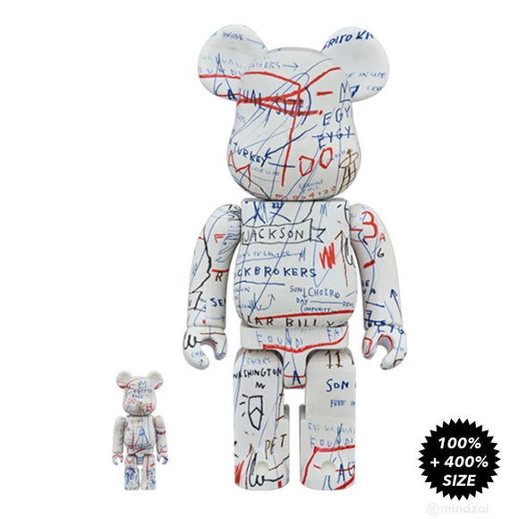 Jean-Michel Basquiat 400% & 100% Bearbrick Set