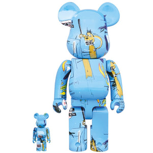Jean-Michel Basquiat 100% & 400% Bearbrick #4 Combo Set