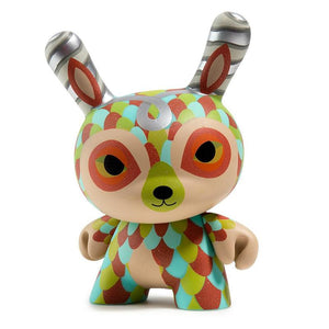 "The Curly Horned Dunnylope 5"" Dunny Art Figure by Horrible Adorables"