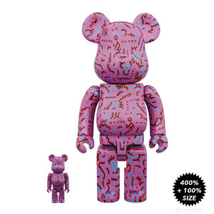 Keith Haring 400% & 100% Bearbrick Set