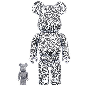 Keith Haring 100% & 400% Bearbrick #4 Combo Set