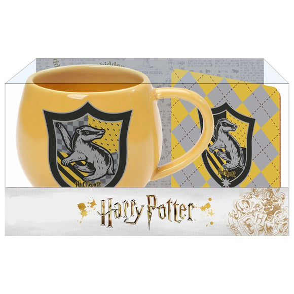 Harry Potter Hufflepuff Mug and Coaster Set