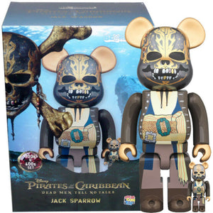 Jack Sparrow Pirates of the Carribean 400% & 100% Bearbrick Set