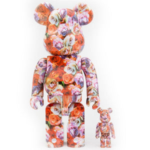 Mika Ninagawa 400% & 100% Rose Bearbrick Set