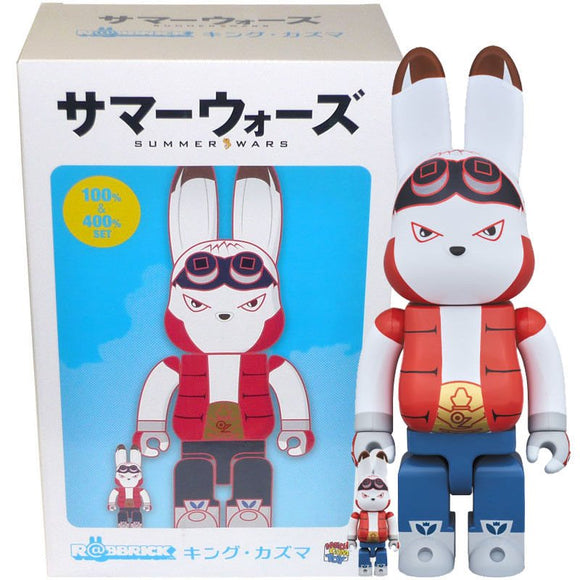 Summer Wars King Kazma 400% and 100% Bearbrick (Rabbrick) Set