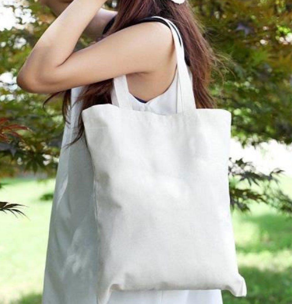 TR08 Rectangular Smooth Canvas Tote Bag