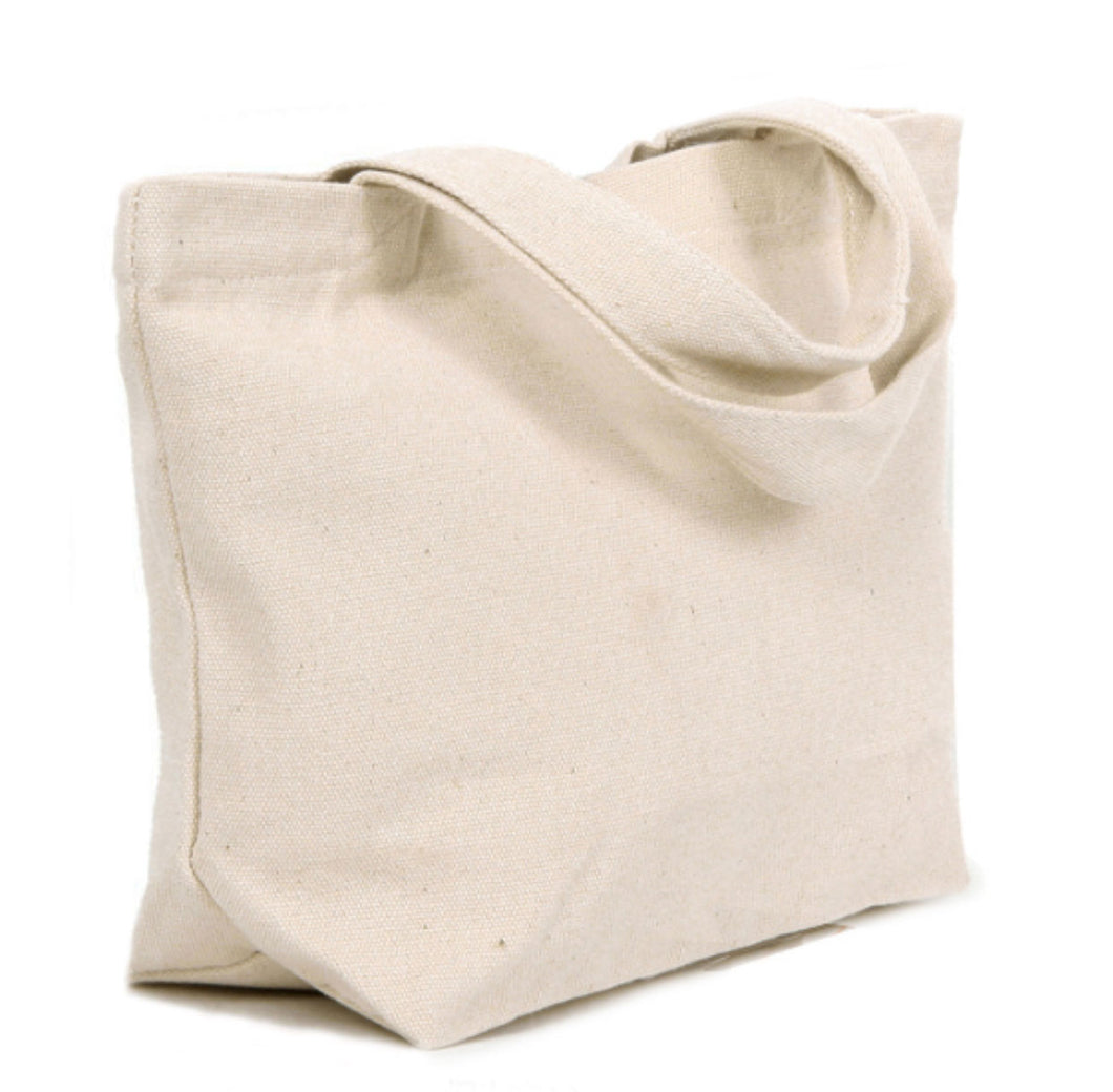 TF12 Thick Wide & Flat Bottom Canvas Tote Bag