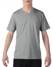 Load image into Gallery viewer, 63V00 Adults Short-Sleeves Lightweight Cotton V-neck T-shirt