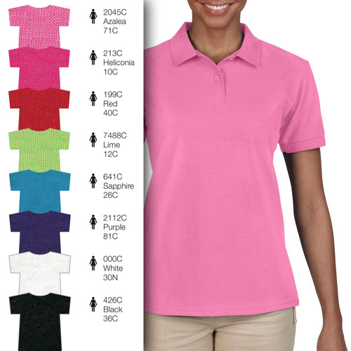 73800L Women Cotton Blend Piqué Short-Sleeves Polo Shirt