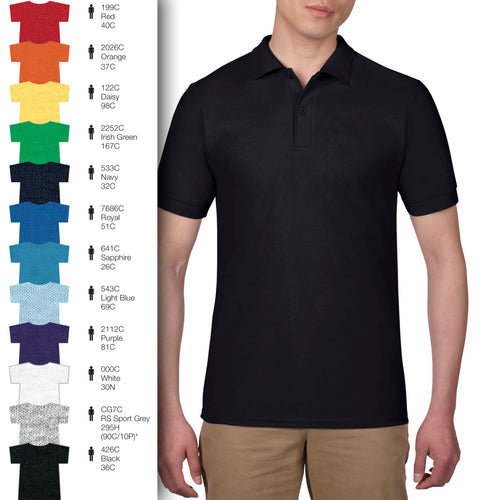 73800 Adults Cotton Blend Piqué Short-Sleeves Polo Shirt