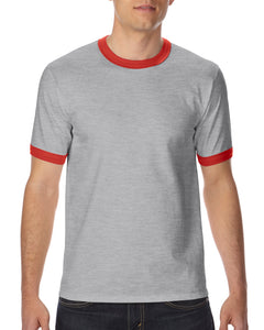 76600 Adults Short-Sleeves Ringer T-shirt