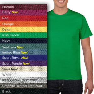 HA00 Adults Short-Sleeves Heavyweight Cotton T-shirt