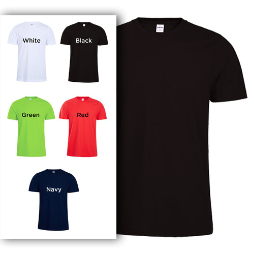 190C Adults Short-Sleeves Heavy Cotton T-shirt