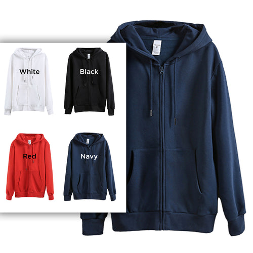 290C-Z Adults Fleece Full-Zip Hoodie