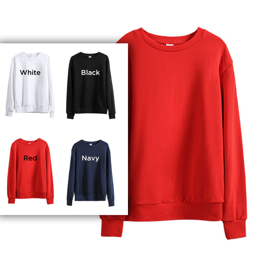 290C Adults Crew-neck Cotton Sweatshirt