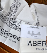 Load image into Gallery viewer, ABERDEEN SKYLINE TEA TOWEL