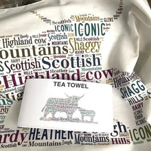 Load image into Gallery viewer, Highland Cow and calf tea towel