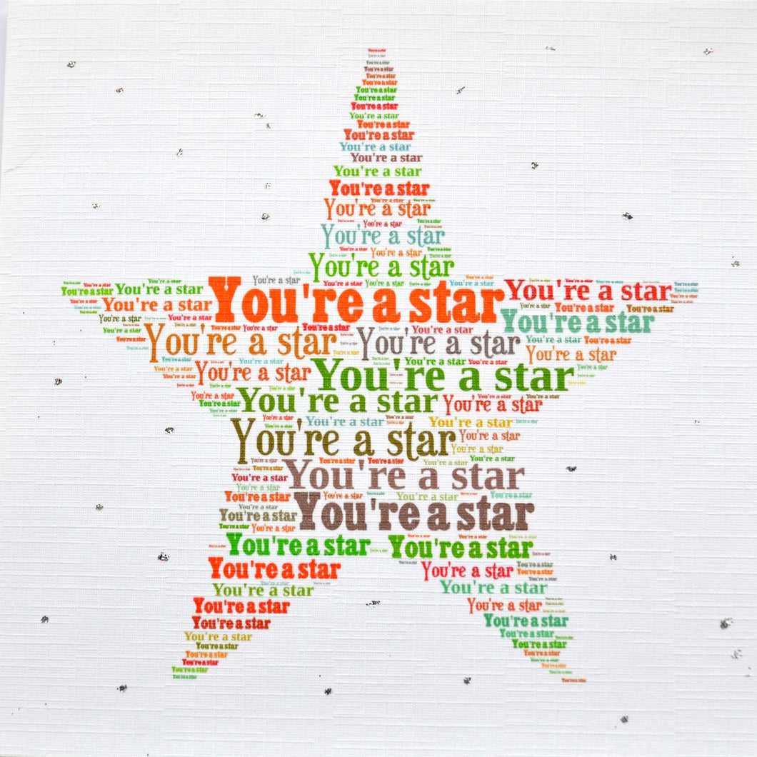 YOU'RE A STAR MULTI with sparkle (order code 279)