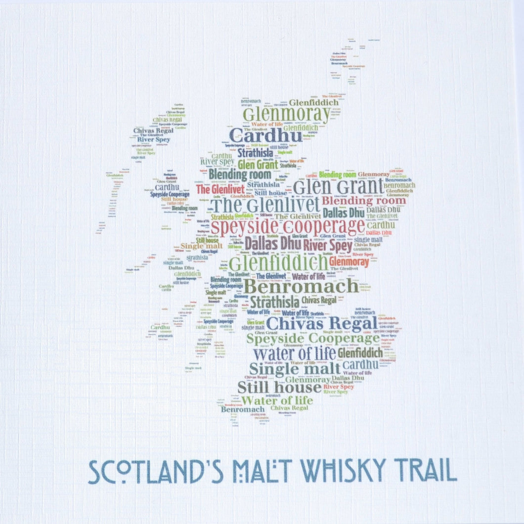 SCOTTISH MAP WHISKY TRAIL  order code 385