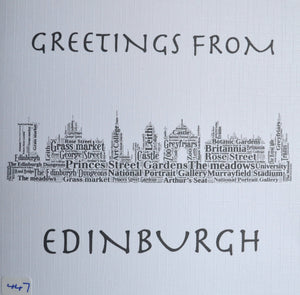 Edinburgh skyline - order code 447