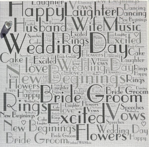 WEDDING WORDS WITH SPARKLE  order code 351