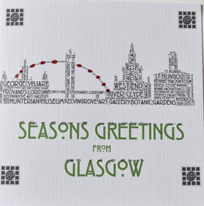 GLASGOW SKYLINE WITH SPARKLE  order code C109