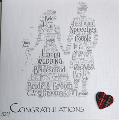Wedding - Scottish bride and groom. - order code 429