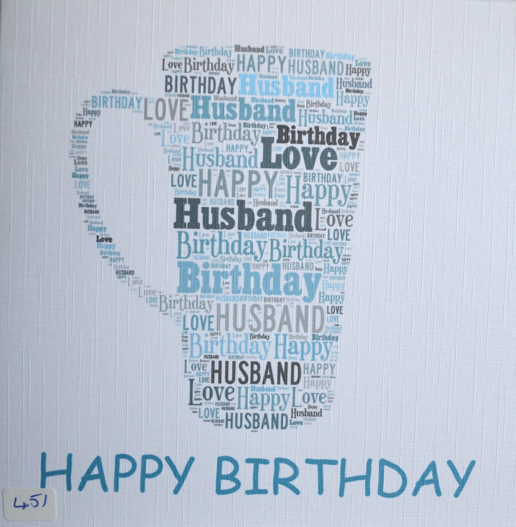 Happy Birthday HUSBAND  - order code 451