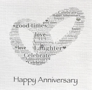 ANNIVERSARY WITH GLITTER  order code 328