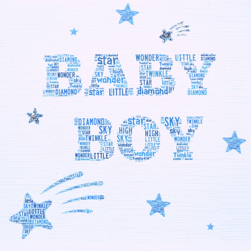 baby boy with sparkle  -  order code 238