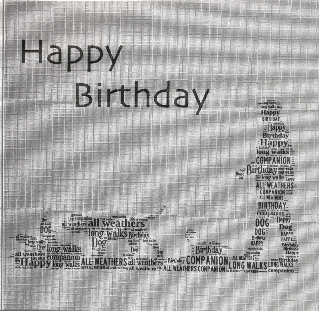 HAPPY BIRTHDAY  order code 434 - MAN WALKING DOG