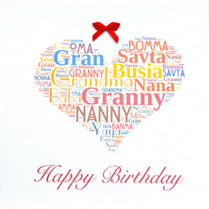 GRANNY HAPPY BIRTHDAY with bow(order code 373)