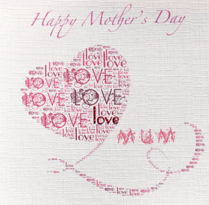 Mother's Day Heart - order code 438