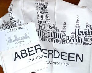 ABERDEEN SKYLINE TEA TOWEL