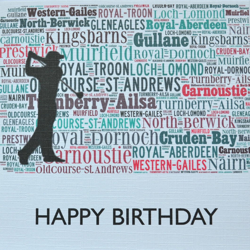 GOLF SILHOUETTE  order code 299