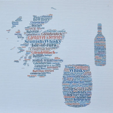 WHISKY MAP, BARREL AND BOTTLE  order code 344