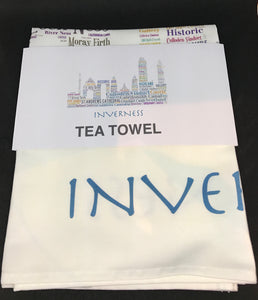 Inverness skyline TEA TOWEL