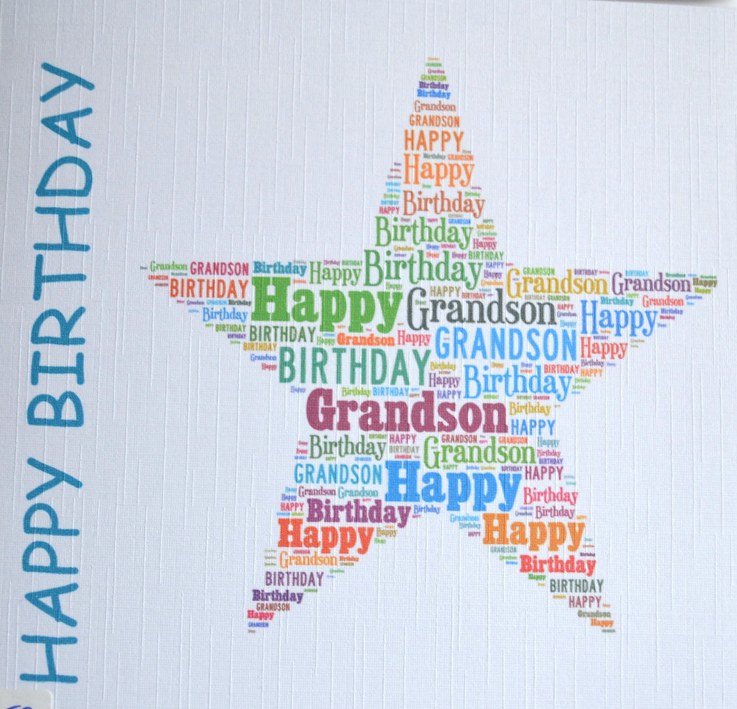 Happy Birthday GRANDSON -  order code 452