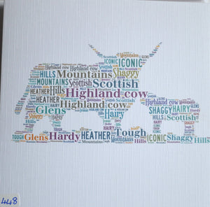 Scottish Highland Cow and Calf - order code 448