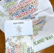 Load image into Gallery viewer, WEST HIGHLAND WAY  tea towel