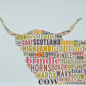 HIGHLAND COW (head)  order code 335