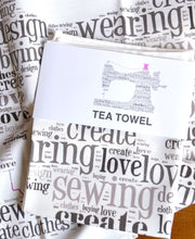 Load image into Gallery viewer, Sewing machine tea towel